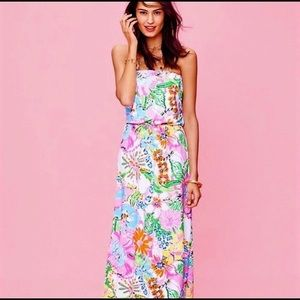 Lilly Pulitzer Maxi XS Nosie Posey NWOT